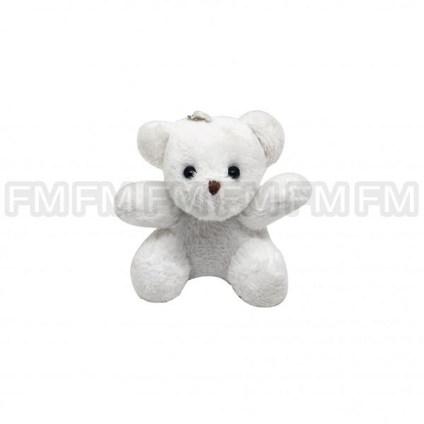 Chaveiro Pelúcia Urso Branco 12 PEÇAS F1300119