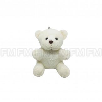 Chaveiro Pelúcia Urso Branco (12 PEÇAS) F1300140