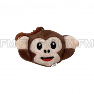 Chaveiro Pelúcia Macaco Sabio (3 Expressões) 12 PEÇAS F1301579
