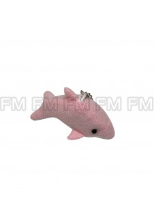Chaveiro Pelúcia Bichinho Golfinho Rosa F9900254