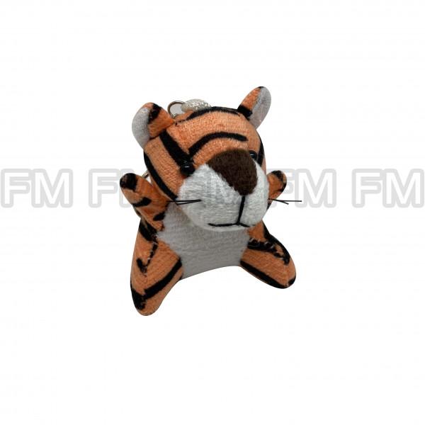 Chaveiro Pelúcia Bichinho Tigre Laranja F9900254