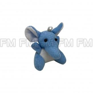 Chaveiro Pelúcia Bichinho Elefante Azul F9900254