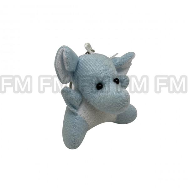 Chaveiro Pelúcia Bichinho Elefante Azul Claro F9900254