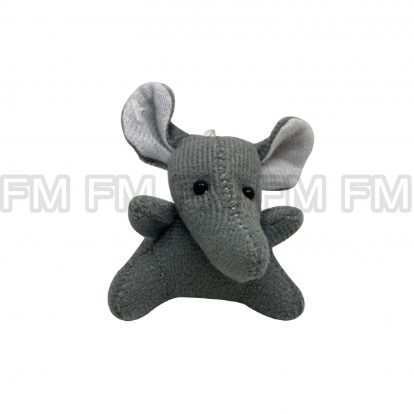Chaveiro Pelúcia Bichinho Elefante Cinza F9900254